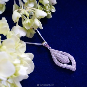 Zirconia Pendant with...