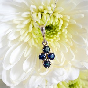 Blue Sapphire Pendant with...