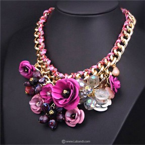 Flowery Choker Bib Necklace