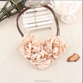 Fabric Rose Choker Necklace...