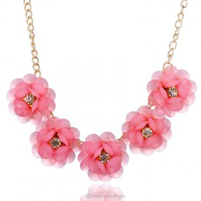 Summer Flowers Short Necklace
