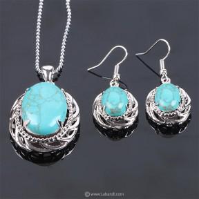 Aventurine Stones Jewelry Set