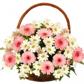 Basket Of Pink Cheers