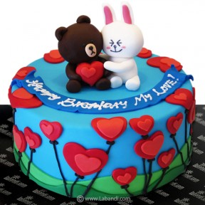 Bear Love Couple Cake - 2.2lb