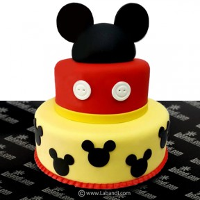 Three Tiered Mickey Cake -...