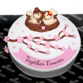 A Nest Full of Love Cake