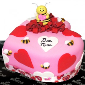 BEE MINE Ribbon Cake