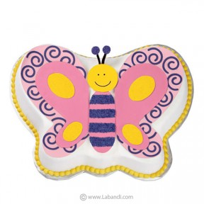 Pink Butterfly Cake - 3.6...