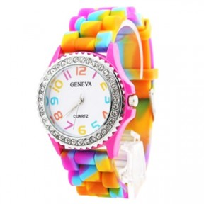 Rainbow Silicone Strap Watch