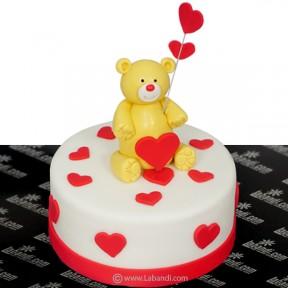 Teddy Love Cake - 2.2lb