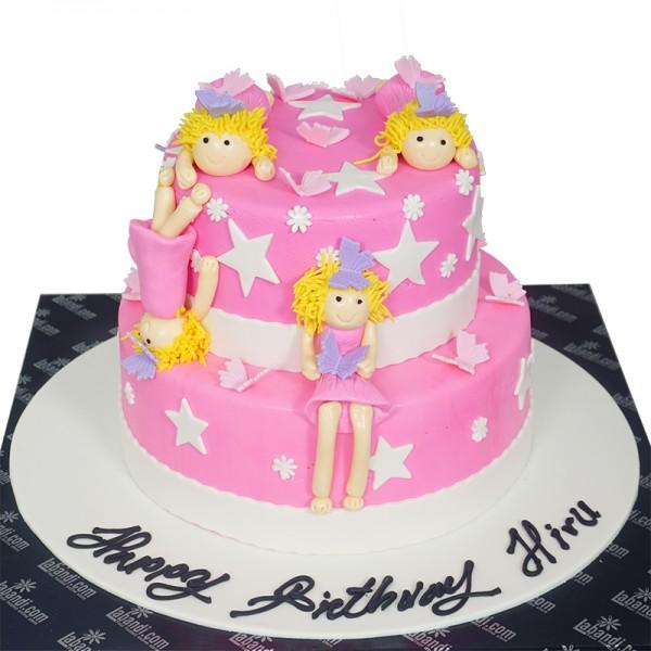 Prime Pink Angels Cake 7 8Lb 3 5Kg Pink Angels Cake 7 8Lb 3 5Kg Birthday Cards Printable Nowaargucafe Filternl