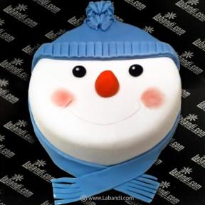 Frosty Snowman Cake - 2.2lb