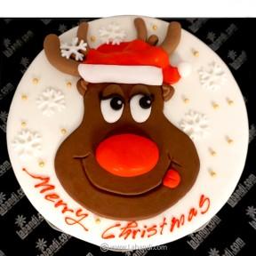 Christmas Rudolph Cake - 2.2lb