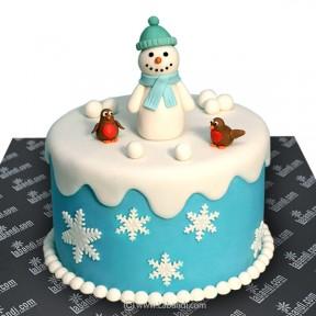 Snowman & Friend Cake - 2.2lb