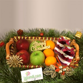 Fruits & Cakes Gift Basket