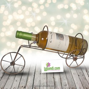Cart Wheel Metal Wine...