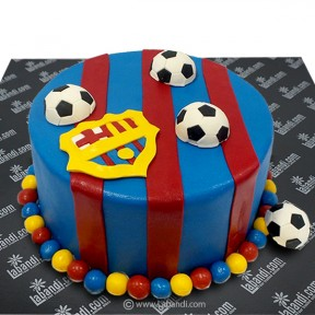 Soccer Theme Cake - 3.3lb