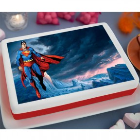 Super Man Printed Cake (3.3lb)