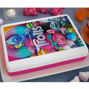 Trolls Printed Cake (3.3lb)