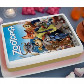 Zootopia Printed Cake (3.3lb)