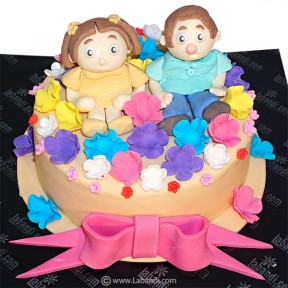 Cute Couple Cakes - 2.2lb