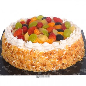 Fruit Cream Gateaux Cake