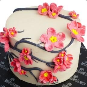 Pink Blossom Cake