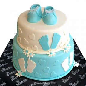 Welcome Baby Boy Cake -...