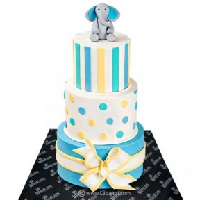 Grand Baby Shower Cake -...