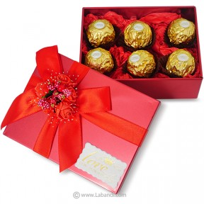 Box of Ferrero 6pcs (RED)