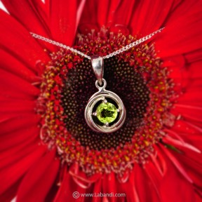 Peridot Pendant with Silver...
