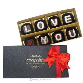 LOVE YOU 8 Piece Chocolate Box
