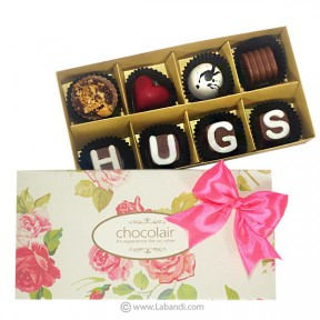 HUGS 8 Piece Chocolate Box