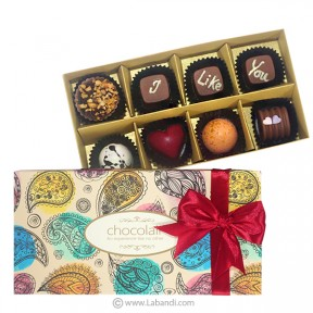 I Like U 8 Piece Chocolate Box