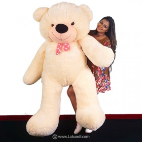 Life Size Teddy Bear - CREAM