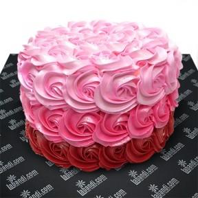 Pink Rose Swirl Cake - 2.2lb