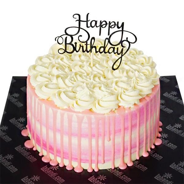 Super Vanilla Rose Bday Cake Vanilla Rose Bday Cake Birthday Cards Printable Benkemecafe Filternl