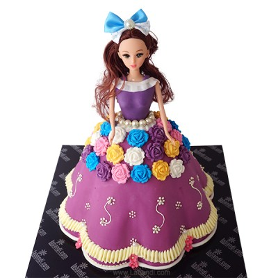 Purple Barbie Cake - 4.8lbs