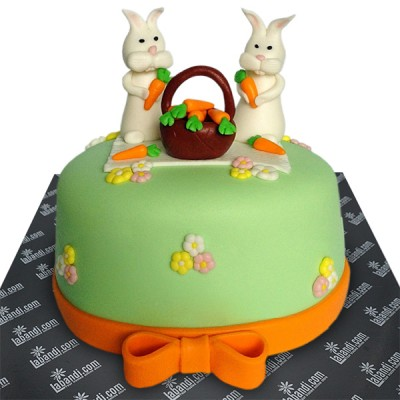 Bunnies with Basket Cake