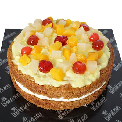 Eggless Fruit Vanilla Cake