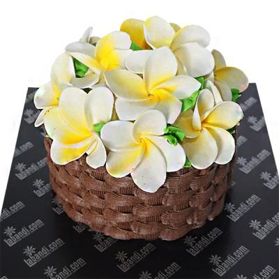 Basket of Araliya Cake -...