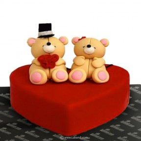 Bear Couple Love Cake - 2.2lb
