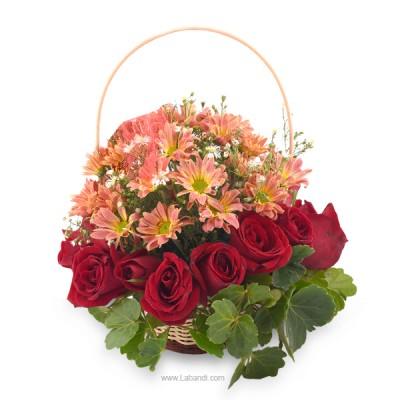 Rosy Daisy Basket