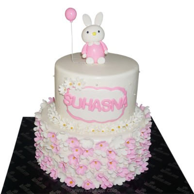 Bunny on Top Two Tier Cake