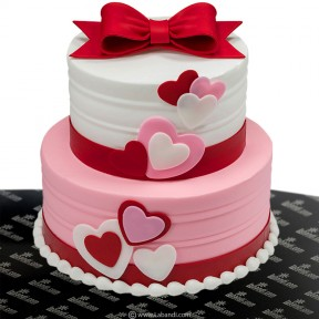 Two Tier Love Blossom Cake...