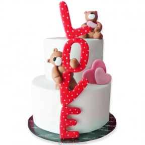 Two Tier Love Cake - 5.5lb