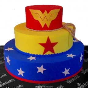 Three Tier Super Hero Cake...