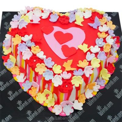 Colour me Happy Heart Cake...