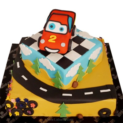 Mcqueen on Track Cake