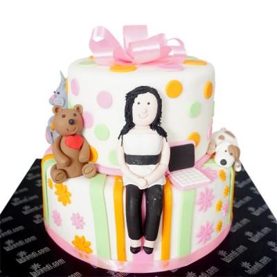 Customized Girl Cake